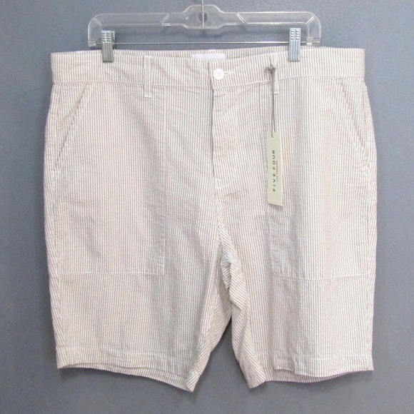 Five Four Other - NEW Five Four Taupe Tan Seersucker Shorts Size 36